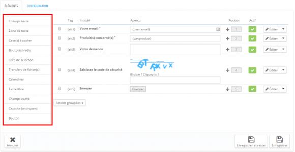 Configurer un formulaire dans le Back-Office de PrestaShop 1.6