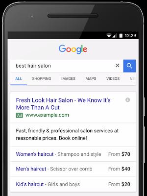 Extension Prix Google Adwords