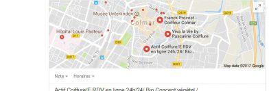 Résultat local sur Google : coiffeur Colmar