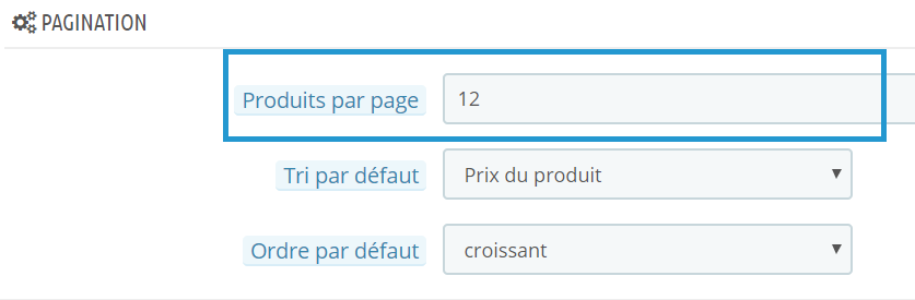Pagination PrestaShop